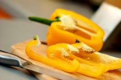 Gelber Paprika Stockfotos