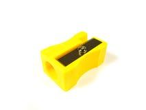 Gelber pencill Bleistiftspitzer Stockfotografie