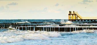 Gelber Pier lizenzfreie stockfotografie