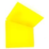 Gelber Protokollsteuerknüppel. Papieranmerkung stockfotografie