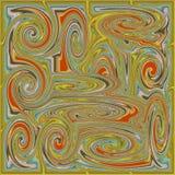Gelber psychedelischer gewundener Fractal Lizenzfreies Stockfoto