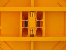 Gelber rechteckiger Aufbau. Stockbilder