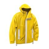 Gelber Regen-Mantel Stockfotos
