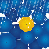 Gelber Regenschirm Lizenzfreie Stockfotografie