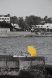 Gelber Regenschirm Stockbild