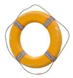 Gelber Rettungsgürtel mit Seil Lokalisierter Gegenstand Stockbild