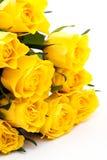 Gelber Roseblumenstrauß Lizenzfreies Stockfoto