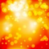 Gelber roter Glühenhintergrund lizenzfreie abbildung