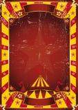 Gelber schmutziger Zirkus des Plakats Stockfotografie