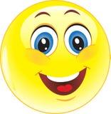 Gelber smiley des Vektors Lizenzfreie Stockfotografie