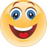 Gelber smiley des Vektors Stockbilder