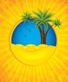 Gelber Sommerhintergrund Stockfotos