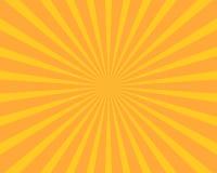 Gelber Sonnenexplosionsillustrations-Vektorhintergrund Zusammenfassung und Wa lizenzfreie abbildung