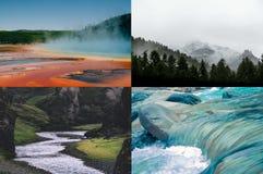 Gelber Stein und Montana Stockfotografie