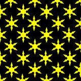 Gelber Stern-Schwarz-Hintergrund Stockbilder