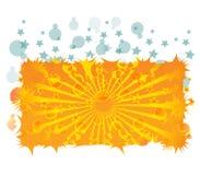 Gelber Strahl und Luftblasen Lizenzfreie Stockbilder