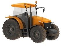 Gelber Traktor lokalisiert Lizenzfreie Stockbilder
