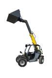 Gelber Traktor mit einem Schöpflöffel Lizenzfreie Stockfotos