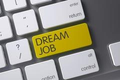 Gelber Traum-Job Button auf Tastatur Wiedergabe 3d Lizenzfreies Stockfoto