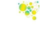 Gelber und blauer Hintergrund Stockfotografie