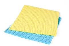Gelber und blauer Lappen stockfotografie