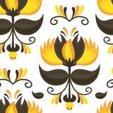 Gelber und brauner Hintergrund des magischen Musters Lizenzfreie Stockbilder