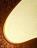 Gelber und brauner Luxuxhintergrund Lizenzfreie Stockbilder