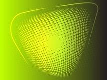 Gelber und grüner abstrakter Hintergrund des Halbtoneffektes Lizenzfreies Stockbild