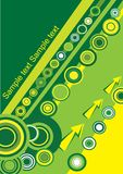 Gelber und grüner Kreis Stockbild
