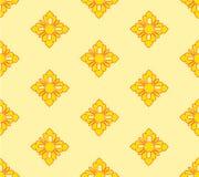 Gelber und orange Thailand-Musterhintergrund Lizenzfreies Stockbild
