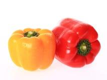Gelber und roter grüner Pfeffer Lizenzfreies Stockfoto
