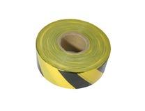 Gelber und schwarzer Absperrband Stockfotos