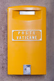 Gelber Vatikan-Briefkasten Lizenzfreies Stockbild
