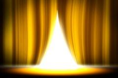Gelber Vorhangstadiumsstudio-Unterhaltungshintergrund, gelber Vorhanghintergrund lizenzfreie stockfotos