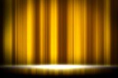 Gelber Vorhangstudio-Unterhaltungshintergrund, gelber Vorhanghintergrund stockfoto