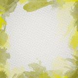 Gelber Wasser-Farbrahmen Stockbilder