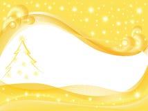 Gelber Weihnachtshintergrund Lizenzfreie Stockfotografie