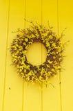 Gelber Wreath Lizenzfreies Stockbild