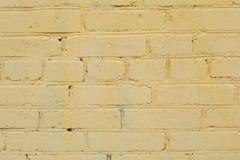 Gelber Ziegelstein-Hintergrund Stockbilder
