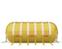 Gelber zylinderförmiger Ponton Lizenzfreies Stockfoto
