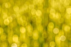 Gelbes abstraktes bokeh als Hintergrund Lizenzfreies Stockfoto