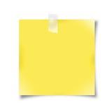 Gelbes Anmerkungspapier Lizenzfreies Stockbild