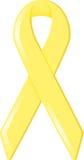 Gelbes Bewusstseins-Farbband Stockfotos