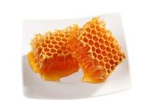 Gelbes Bienenwabewachs Lizenzfreie Stockbilder