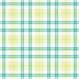 Gelbes blaues Plaid Stockfotografie