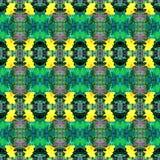 Gelbes Blumenkaleidoskopmuster stockbilder