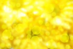 Gelbes bokeh Stockbilder