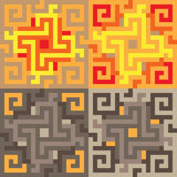 Gelbes Braun der Musterpixelkunst Stockfotografie