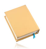 Gelbes Buch mit blauem Bookmark Stockbilder