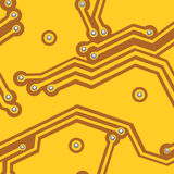 Gelbes Computerbrett Nahtloser Vektor Stockbilder
